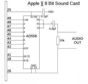 Apple II 8 Bit Sound Card